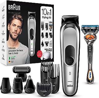 comprar comparacion Braun Recortadora MGK7220 10 en 1, Máquina recortadora de barba, set de depilación corporal y cortapelos para hombre, colo...