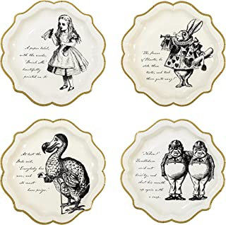 Talking Tables Alice In Wonderland Party Supplies   Paper Plates   Great For Mad Hatter Tea Party, Birthday Party And Baby Shower   12 Count
