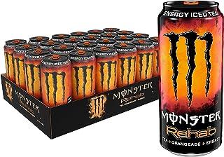 Monster Rehab Tea + Orangeade + Energy, Energy Iced Tea, 15.5 Ounce (Pack of 24)
