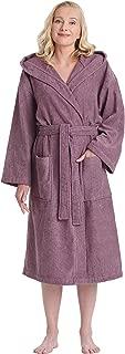 Women's Classic Hooded Bathrobe Turkish Cotton Terry Cloth Robe