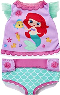 My Disney Nursery Baby Doll Clothes & Accessories, Ariel Diaper Accessory Pack Inspired by Disney's The Little Mermaid! Includes Doll T-Shirt, Doll Diaper Cover, Clip with Charm