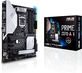 ASUS Prime Z370-A II LGA1151 (Intel 8th and 9th Gen) ATX DDR4 DP HDMI DVI M.2 USB 3.1 Gigabit LAN