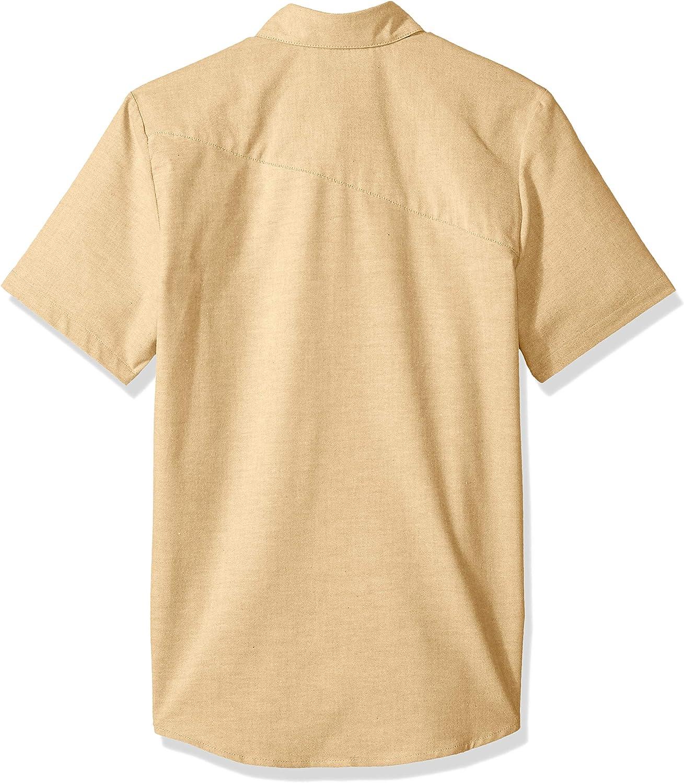 Volcom Men's Everett Oxford Short Sleeve Shirt: Clothing