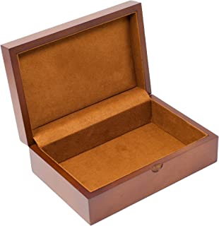 Caddy Bay Collection Memory Keepsake Mementos Jewelry Wood Gift Box Chest – Vintage Brown