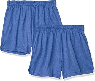 Soffe Juniors' Authentic Cheer Short, Team Royal Heather, X-Large (2-Pack)