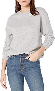 Amazon Brand - Goodthreads Women's Heritage Fleece Beefy Crewneck Sweatshirt