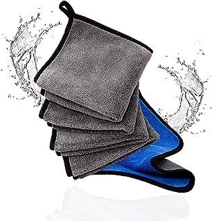 Zodry® 5er Mikrofasertuch 30x30cm   600GSM Reinigungstuch, Abtropftuch,Pflegetuch / Lappen für Autos/ Motorräder sowie Trockentuch ideal für Haushalt, Geschirrtücher, Poliertuch, Microfasertuch