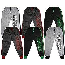 KIFAYATI BAZAR Boy's & Girl's Regular Fit Track Pants ( Pack of 6 )