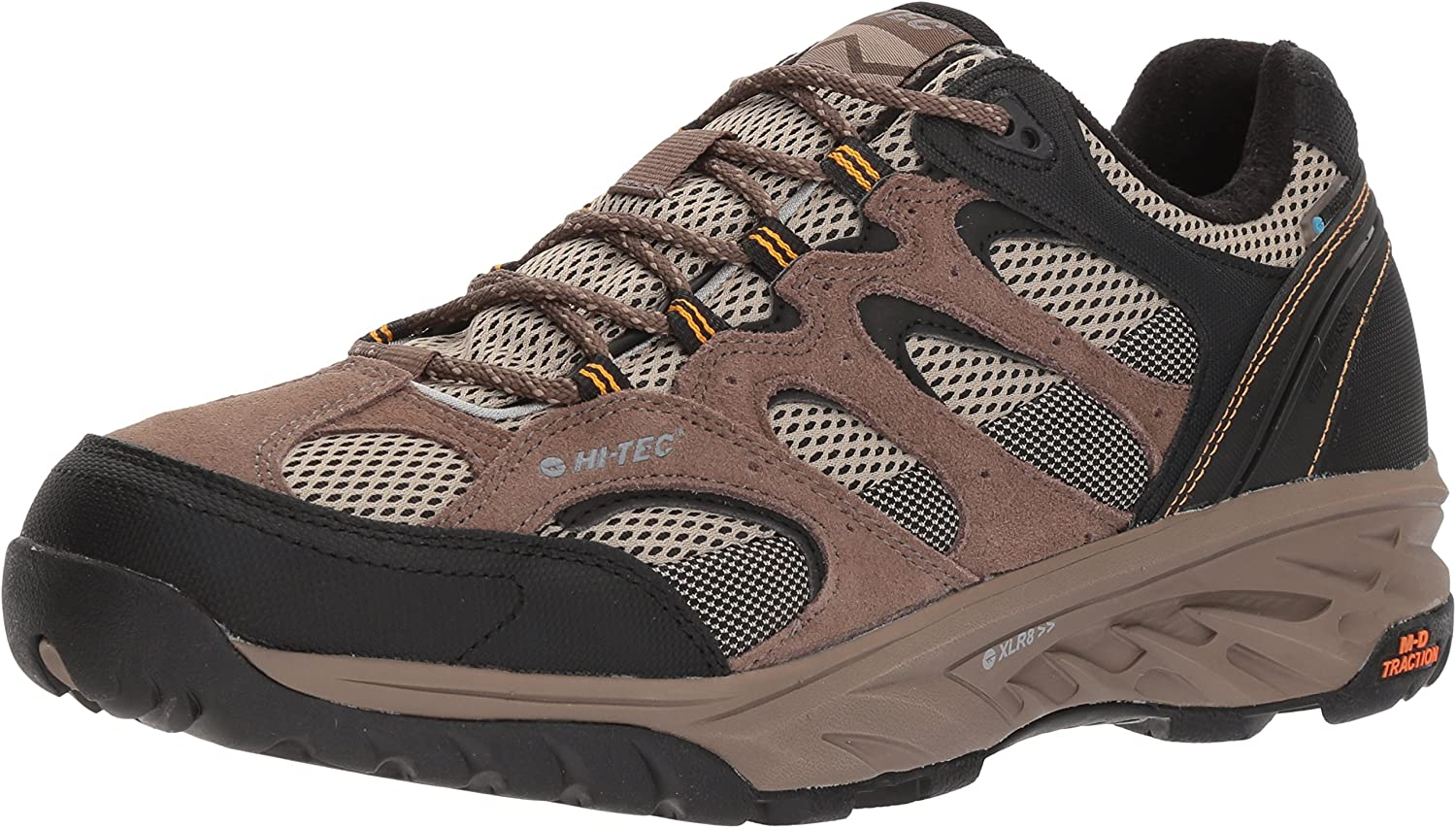 Hi-Tec Hommes's V-LITE Wild-FIRE Faible I imperméable Hiking chaussures, Taupe Dune core or, 140M Medium US