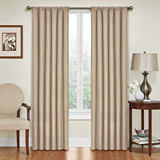 Eclipse Blackout Curtains for Bedroom - Kendall Insulated Darkening Single Panel Rod Pocket Window Treatment Living Room, ...