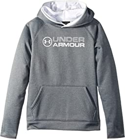 Under Armour Kids - Armour Fleece Stacked Hoodie (Big Kids)