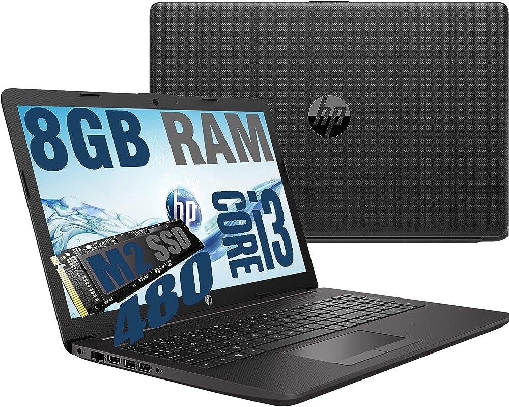 Hp notebook  250 g7, cpu intel core i3-1005g1, ram 8gb ddr4 /ssd m2 480gb HP I3/8GB/SSD480/W10