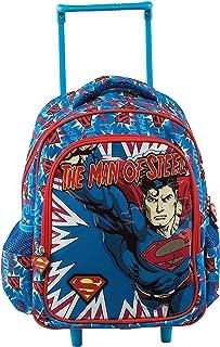 Superman Mochila Escolar, 30 cm, Azul (Blue)