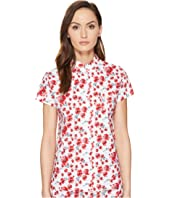 Emporio Armani - Poppy Dream Cotton Loungewear Button Down Sleep Shirt