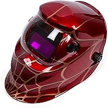 Holulo Red Spider Design Solar Power Auto Darkening Welding Helmet ARC TIG MIG Welder Mask Mask View size 93mm X 43mm (3.66