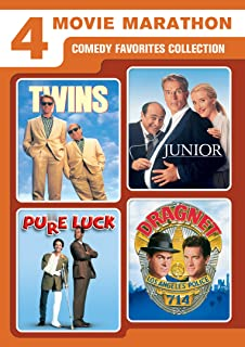 4-Movie Marathon: Comedy Favorites Collection (Twins / Junior / Pure Luck / Dragnet)