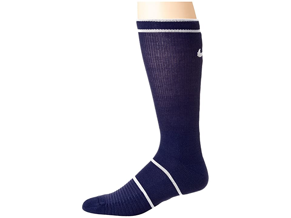 Nike NikeCourt Essentials Crew Tennis Socks (Blue Recall/White) Crew Cut Socks Shoes
