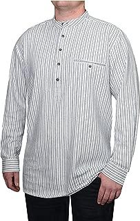 Lee Valley - Genuine Irish Striped Cotton Flannel Grandfather Shirt - Men's