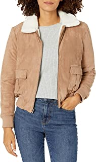 cupcakes and cashmere womens Miley Faux Leather Jacket