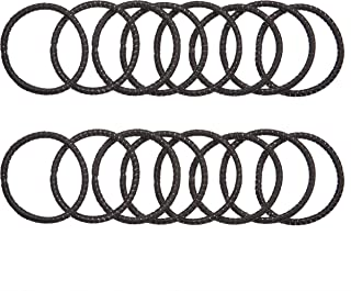Amazon Brand - Solimo Women's Rubber Bands, Thin, Black, Pack of 16