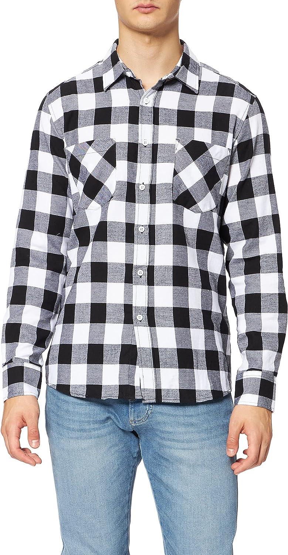 Urban Classics Mens Checked Flannel Shirt