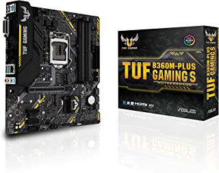 ASUS Micro ATX Intel Gaming Motherboard LGA1151 (8th Gen) DDR4 HDMI VGA M.2 (TUF B360M-PLUS Gaming S)