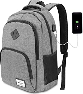 YAMTION Laptop Backpack,Computer Backpack for Laptops Travel Laptop Backpack with USB Charging Port Business Backpack for Men & Women Water Resistant fits 15.6 inch Laptop/Notebook