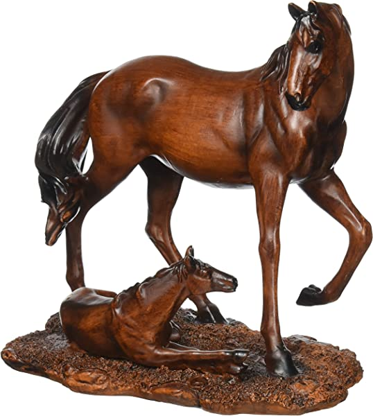 Koehler Home Decorative Accent Mother Foal Horse Statue