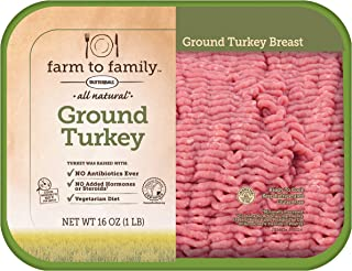 Farm to Family, Ground Turkey Breast, 1 lb