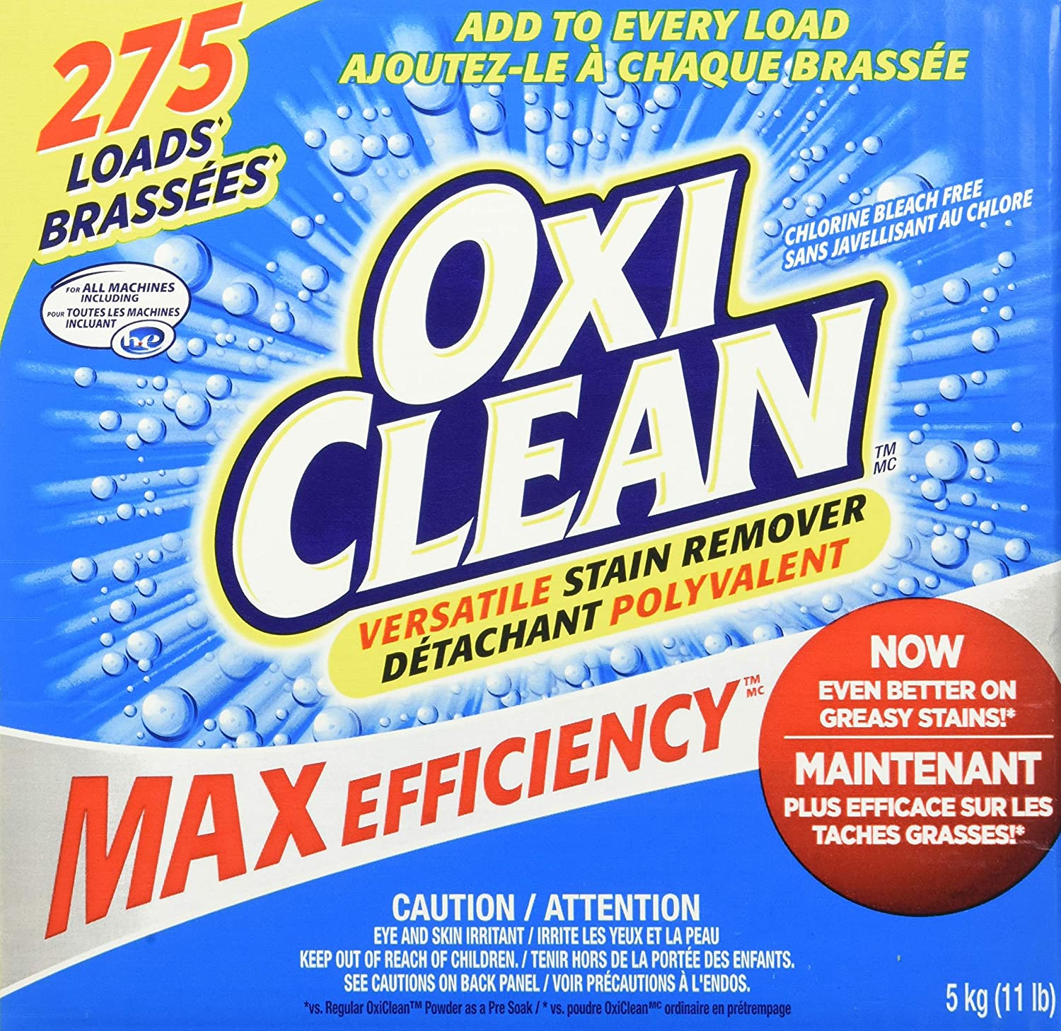 OxiClean Versatile Stain 275 Remover Rare Loads 2021 new