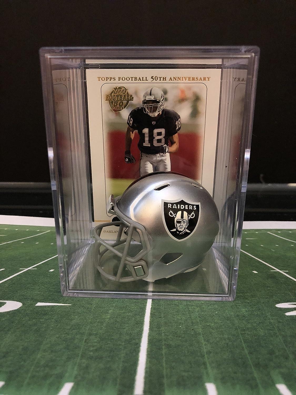 Oakland Raiders NFL Max 46% OFF Helmet Shadowbox Moss w Attention brand Randy card