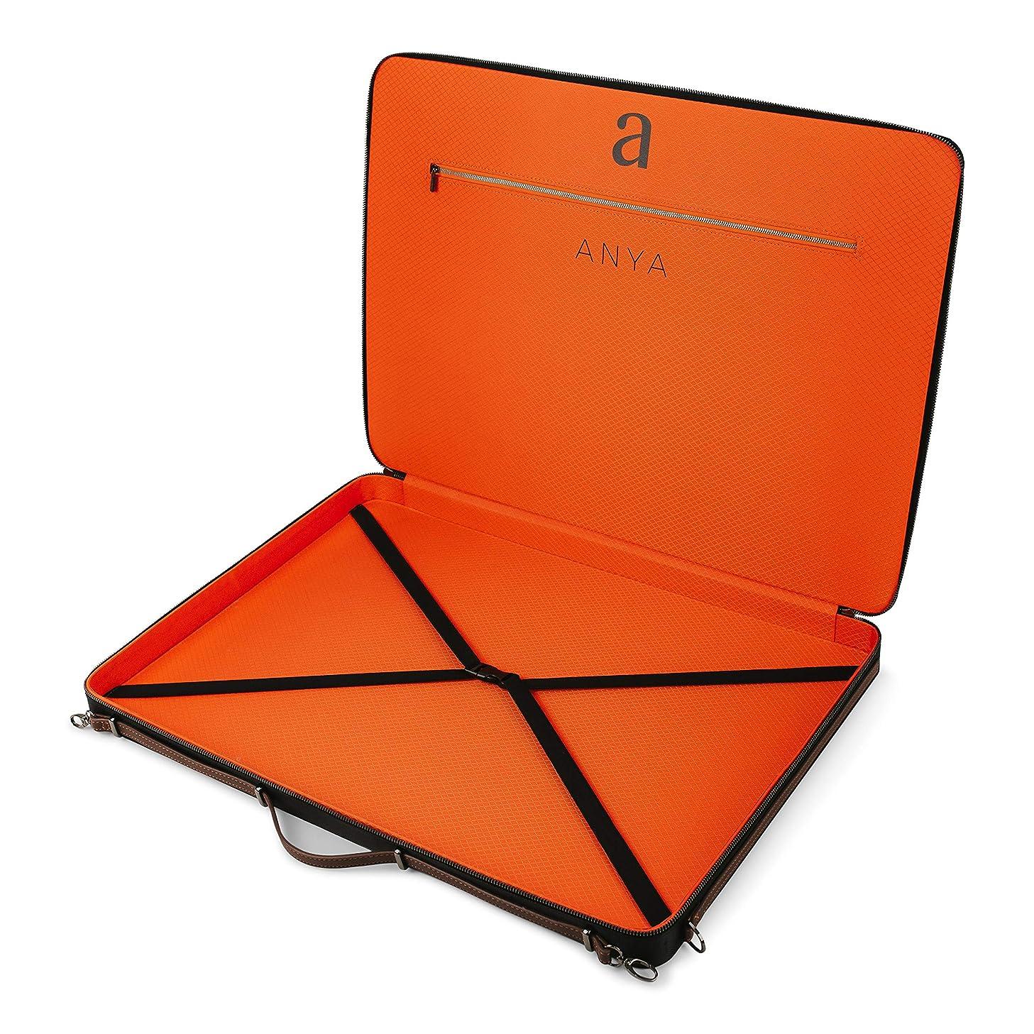 "Luxury Art Portfolio Case 17 x 24"" A2 Artist Carrying Bag   Premium Business Artwork Storage Folder   Professional Art Organizer   Drawings Sketches Foam Board Carry Waterproof Briefcase   Anya SKAPA"