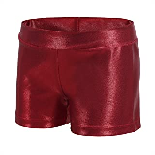 moily Girls Boy-Cut Booty Shorts for Gymnastics Dance Sports Hot Pants V-Front Waistband Boyshort