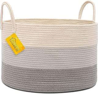 OrganiHaus XXL Cotton Rope Basket | Wide 20