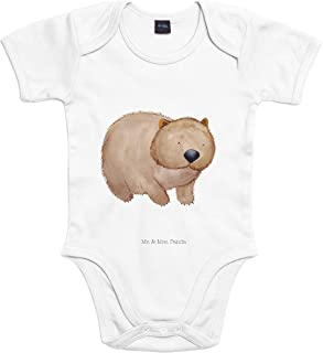 Mr. & Mrs. Panda Strampler, Baby, 3-6 Monate Baby Body Wombat - Farbe Transparent
