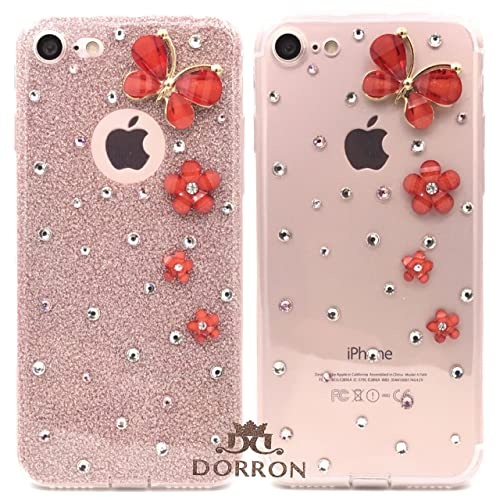 DORRON Beautiful Slim Fit Light Weight Designer Soft TPU Back Case for iPhone  7 - Rose 58fe3ff4d