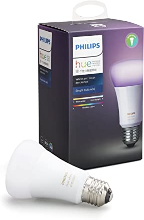 Philips Hue White and Colour Ambiance Edison Screw (E27) Dimmable LED Smart Bulb (Latest Model, Compatible with Amazon Alexa, Apple HomeKit, and Google Assistant)