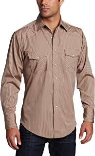 Men's Sport Western Two Pocket Long Sleeve Snap Shirt