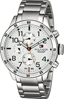 Tommy Hilfiger Silver Stainless White dial Watch for Men's 1791140