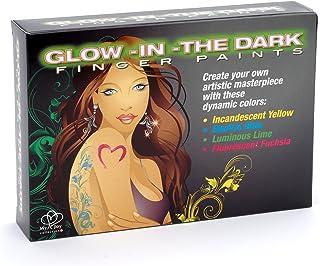 Kingman Body Art Glow in The Dark Finger Paints