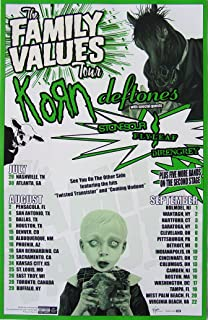 Korn - The Family Values Tour 2006 - Poster - New - Rare - Deftones - Stone Sour - StoneSour - Flyleaf - 10 Years - Deadsy - James Shaffer - Munky - Reginald Arvizu - Fieldy Snuts - David Silveria - Jonathan Davis - Sexart - LAPD
