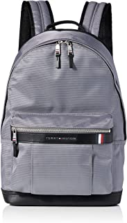 Tommy Hilfiger Men's Elevated Nylon Backpack, Grey - AM0AM05812