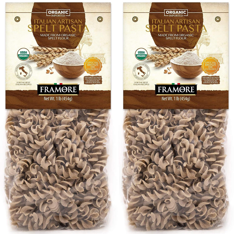 FRAMORE Organic Spelt Fusilli Pasta Italian Charlotte Mall pack Ranking TOP13 pound tw of one