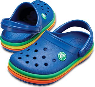 CB Rainbow Band Clog K Crocs Blue Jean , Tamanho 22/23 BRA