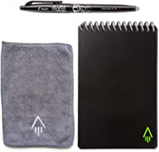 Rocketbook Everlast Smart Reusable Notebook - Dotted Grid Eco-Friendly Notebook with 1 Pilot Frixion Pen & 1 Microfiber Cloth Included - Infinity Black Cover, Mini Size (3.5