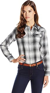 Wrangler Women's Long Sleeve Western Snap Shirt