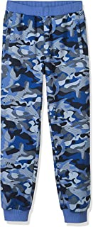Kid Nation Kids French Terry Camouflage Print Pull-on Jogger Pants Elastic Sweatpants for Boys or Girls