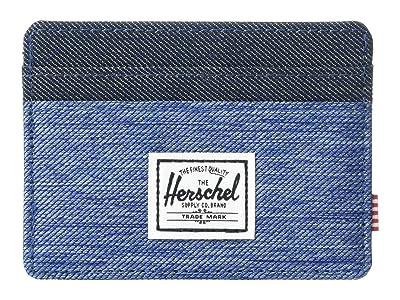 Herschel Supply Co. Charlie RFID (Faded Denim/Indigo Denim) Wallet Handbags