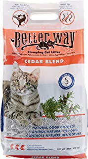 Better Way Cedar Formula Clumping Bentonite Cat Litter with Sanel Cat Attractant 14 lbs