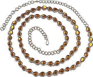 I Jewels Traditional Silver Plated Kundan & Stone Studded Kamarband for Women (B019FL)